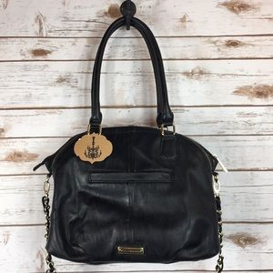 STEVE MADDEN Black Faux Leather Satchel
